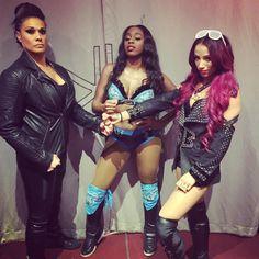 Who's bad? We bad! Beautiful & Dangerous #SmackDown #LegitBoss #whosthebaddest #SashaBanks