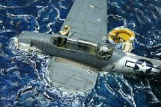 THIS FANTASTIC PICTURE, THE FUEL FINISH AND LANDED IN THE PCIFIC OCEAN 1944