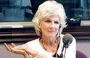 Diane Rehm, a profound and fascinating broadcaster, with the best show on NPR.  http://thedianerehmshow.org