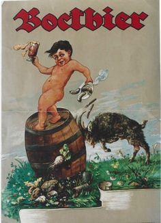 Vintage German Beer Posters Original vintage poster