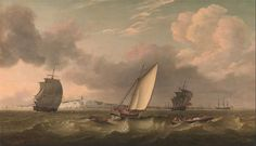 Thomas Luny - A Packet Boat Under Sail in a Breeze off the South Foreland (1780)