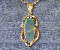 Fine Quality Semi Black Opal Pendant