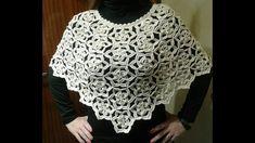 tutorial crochet poncho capa navidades (with subtittles in several leng...