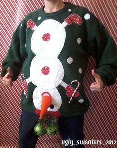 Naughty Ugly Christmas Party Holiday Sweater Mens Tacky L XL Snowman Winner | eBay Diy Ugly Christmas Sweater, Ugly Sweater Party, Christmas Holidays, Xmas Sweaters, Ugly Sweaters Diy, Diy Christmas Gifts For Men, Boyfriend Christmas Ideas, Ugly Sweater Funny, Xmas Jumpers