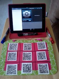 This shows how to use QR codes and an iPad in the classroom with students. The first example is QR tic tac toe. You scan the QR code and answer the question that comes up. Teaching Technology, Technology Integration, Educational Technology, Technology Tools, Assistive Technology, Mobile Technology, School Classroom, Classroom Activities, Classroom Organization
