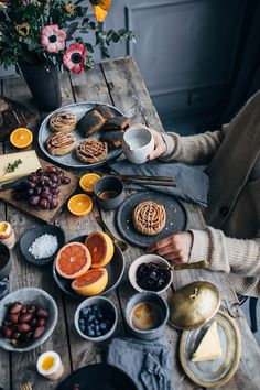 Breakfast Gathering at Signe Bay's Studio in Copenhagen - vintage furniture / food photography