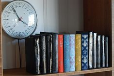 Book ends made from old, chunky books