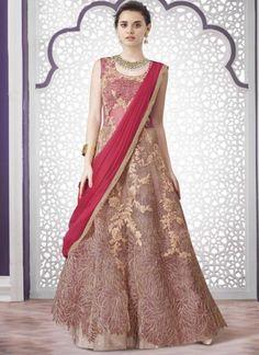 Hot Pink Embroidery Work Glass Tissue Net Lycra Designer Fancy Lehenga Choli        #LEHENGA #Choli #Wedding #Bridal       http://www.angelnx.com/Lehenga Choli