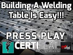 3'X4' Large Heavy Duty Welding Table Top Kit-CertiFlat by Tab & Slot U – WeldTables.com