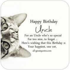 Free Birthday Cards For Uncle | all-greatquotes.com #HappyBirthday #Uncle