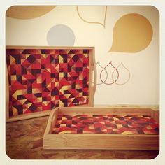 Bandejas de Bambu + Ecofriendly Geometrika + Loja Mosaico de Ideias - Instagram photo by @mosaicodeideias