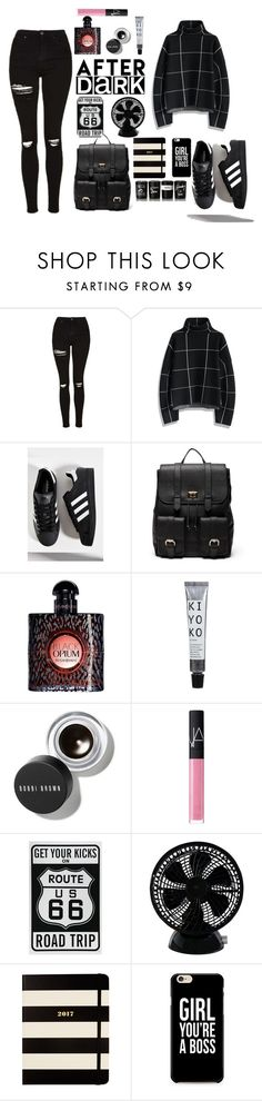 """girl, you`re a boss!"" by enge-abdrashitova on Polyvore featuring мода, Topshop, Chicwish, adidas, Sole Society, Yves Saint Laurent, Bobbi Brown Cosmetics, NARS Cosmetics, Keystone и Kate Spade"