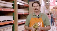 Last Week Tonight reminds us why sales associates exist in the first place. Nick Offerman Saves A Marriage In A Fake Home Depot Ad Because He's Nick Offerman. Saving A Marriage, Marriage Advice, Fake Home, Last Week Tonight, Nick Offerman, John Oliver, Ron Swanson, Parks N Rec, Diy Crafts For Kids