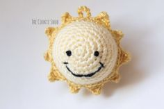Sun Ornament - free crochet pattern at The Cookie Snob