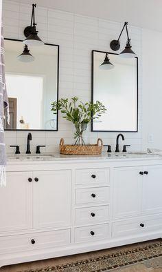 Bathroom Renos, Bathroom Renovations, Bathroom Interior, Modern Bathroom, Bathroom Ideas, Bathroom Organization, Master Bathrooms, Bathroom Cabinets, Bathroom Mirrors