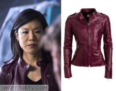 Beverly Katz (Hettienne Park) wears this red collarless leather jacket in this episode of Hannibal. It is the Danier Leather Jacket. Beverly Katz, Hannibal Season 2, Collarless Leather Jacket, Get The Look, Favorite Tv Shows, Seasons, Red Leather, Jackets, How To Wear