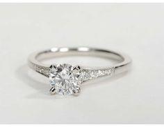 0.82 Carat Diamond Graduated Milgrain Diamond Engagement Ring | Recently Purchased | Blue Nile