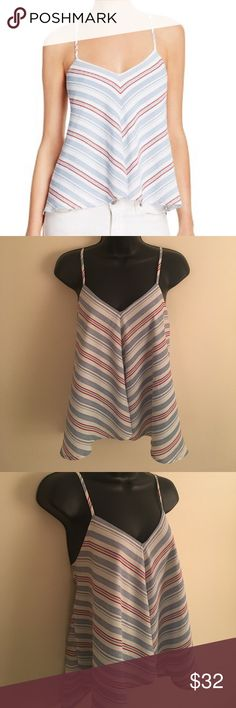 🌟FLASH SALE🌟OLIVACEOUS Striped Tie Back Cami Adorable Olivaceous Red, White, and Blue Striped Tie Back Cami. 100% Polyester. One Small Mark on Front as Seen in Last Photo. Other Than That, This Top is in Excellent Condition. Worn Only Once. Price is Negotiable! Olivaceous Tops Camisoles