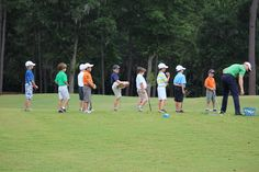learning the game of life, and the game of a lifetime. Littlest Golfers working on Fundamentals.