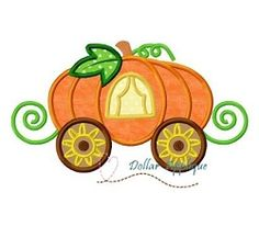 Pumpkin Carriage Applique - 3 Sizes! | What's New | Machine Embroidery Designs | SWAKembroidery.com Dollar Applique