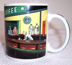 Starbucks 1999 CHALEUR Exclusive Coffee Cup RETRO DINER Mermaid Barrista Mug HTF