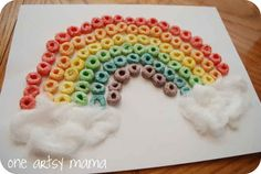 Loopy Rainbow | 24 Super Fun St. Patrick's Day Crafts For Kids