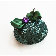 Bridal Reception Cocktail Party Hat Jade Green Sequin Wedding... ($60) ❤ liked on Polyvore featuring accessories, hair accessories, green, green fascinator, holiday hair accessories, fascinator hat, bridal fascinator hats and green hair accessories