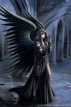 Sera Harbringer by Anne Stokes. Oh, I love her. I want to write a story all…