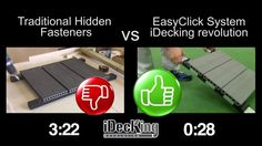 www.idecksystems.com - Speed Comparison between Traditional Hidden Fasteners and EasyClick System by iDecking Revolution. iDecking is the company born to innovate in the field of Decking Installation Systems and Materials. ZERO SCREWS, SUPER FAST AND EASY TO INSTALL. The most innovative decking systems and material available on the international market.