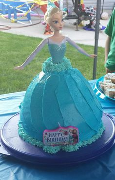 Elsa doll cake for my daughter's third birthday party.