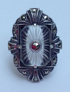 HOLD FOR Tann SALE Marcasite Art Deco Style by WhirleyShirley