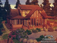 Caramel Mountain House by Ayyuff  http://www.thesimsresource.com/downloads/1181061
