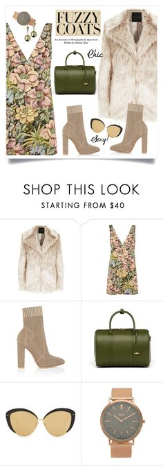 """""""Keep it Cozy: Fuzzy Coats"""" by alinepinkskirt on Polyvore featuring Topshop, Gianvito Rossi, MCM, Linda Farrow, BKE and Caterina Zangrando"""