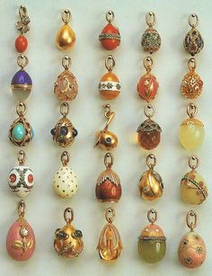 Faberge egg pendants, 1899-1908 http://history-illustrated.ru/illustrations.php?category=40