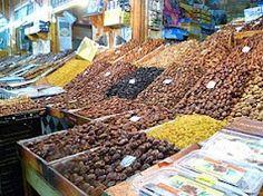 Dried Fruit Souks - Meknes, Morocco. #studyabroad #nom
