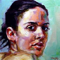 "Daily Paintworks - ""Model"" - Original Fine Art for Sale - © Jurij Frey"