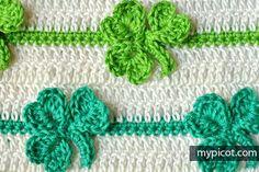 Crochet Shamrock stitch Diagram + step by step instructions | Free crochet patterns