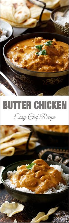 Chicken Butter Chicken - a chef recipe which is so simple and uses ingredients from the supermarket. The sauce is incredible!Butter Chicken - a chef recipe which is so simple and uses ingredients from the supermarket. The sauce is incredible! Chef Recipes, Curry Recipes, Cooking Recipes, Lunch Recipes, Recipes Dinner, Appetizer Recipes, Easy Recipes, Tagine Recipes, Bon Appetit