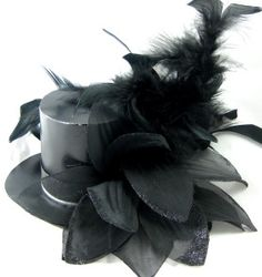 How to make Pringle Tin Top Hat Fascinator - DIY Craft Project from Craftbits.com  *You can use felt too. Mad Hatter comes to mind!