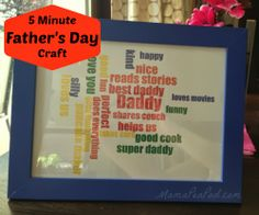 Mama Pea Pod: {5 Minute Father's Day Gift: Daddy Word Cloud Tutorial}