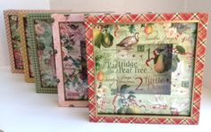 Gorgeous altered boxes using The Twelve Days of Christmas from Diane Schultz' workshop! #graphic45 #newcollections
