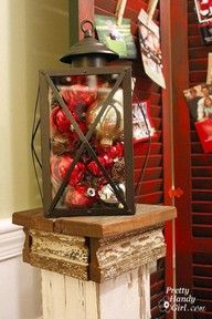 Xmas lantern, woo hoo I already have a nice lantern I am using for my fall porch