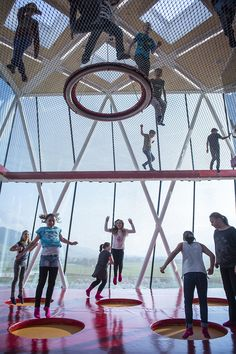 The playtower and the playground - perfect for children's enjoyment.