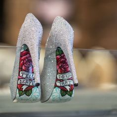 Loving all these wedding shoes with hidden secrets! (via Offbeat Bride)