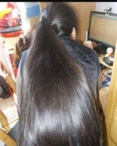 Long Straight Black Hair, Long Dark Hair, Thick Hair, Long Hair Ponytail, Ponytail Hairstyles, Bun Hair, Short Hair, Long Indian Hair, Beautiful Long Hair