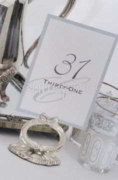 Table Number Vintage Silver Plated Assorted