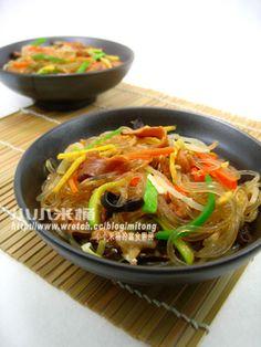 韓國拌雜菜 잡채 - 小小米桶的寫食廚房 - 無名小站
