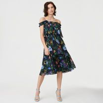Lonti Silk Dress - Gauzy silk makes an impact with a textured crinkle finish and a bright floral print set against a moody backdrop. With delicate shoulder straps and floaty ruffle details, the Lonti's breezy silhouette was made for summer days and nights.