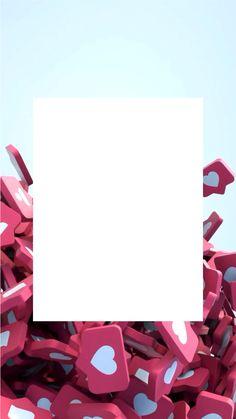 Instagram Blog, Instagram Story Ideas, Gold Wallpaper, Heart Wallpaper, Logo Online Shop, Motion Wallpapers, Instagram Frame Template, Social Media Page Design, Poster Background Design
