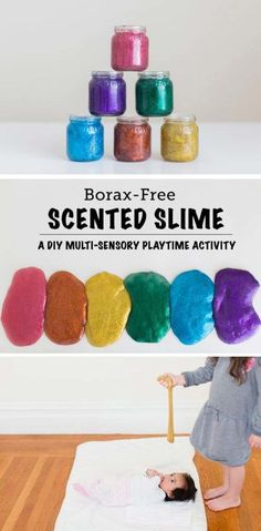 Best DIY Slime Recipes - DIY Rainbow Scented Glitter Slime - Cool and Easy Slime Recipe Ideas Without Glue, Without Borax, For Kids, With Liquid Starch, Cornstarch and Laundry Detergent - How to Make Slime at Home - Fun Crafts and DIY Projects for Teens, Kids, Teenagers and Teens - Galaxy and Glitter Slime, Edible Slime diyprojectsfortee...